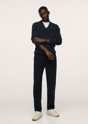 Пуловер из шерсти - Marsella Mango. Цвет: глубокий темно-синий