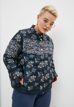 Куртка утепленная Elena Miro reversible. Цвет: синий