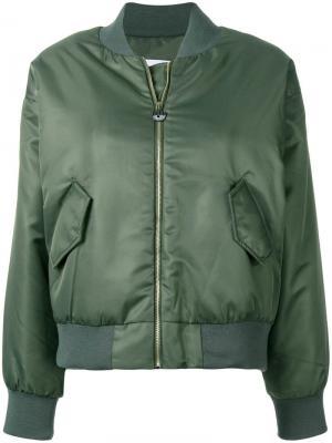 Куртка-бомбер с аппликацией Chiara Ferragni. Цвет: зеленый