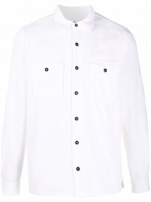 Вельветовая рубашка на пуговицах Stone Island. Цвет: белый