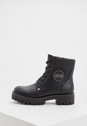 Ботинки Versace Jeans Couture. Цвет: черный