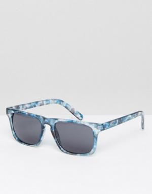 Солнцезащитные очки в синей черепаховой оправе Dissolve Vans. Цвет: синий