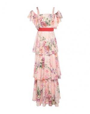 Длинное платье MIKAEL. Цвет: розовый