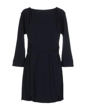 Короткое платье E-GÓ. Цвет: темно-синий