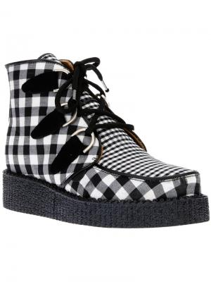 Ботинки в клетку B Store X Underground. Цвет: чёрный