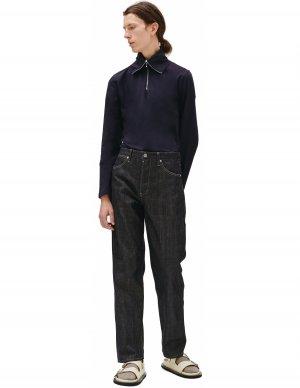 Синие джинсы прямого кроя Jil Sander