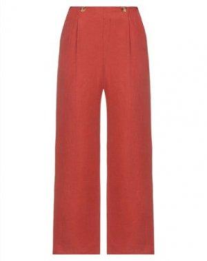Повседневные брюки DES PETITS HAUTS. Цвет: ржаво-коричневый