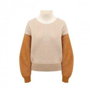 Шерстяной свитер Kenzo. Цвет: бежевый