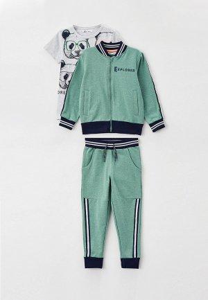 Олимпийка, футболка и брюки Juno. Цвет: разноцветный