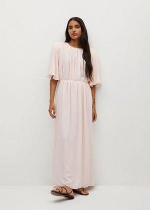 Длинное платье с вырезом на спине - Sienna-a Mango. Цвет: пастельно-розовый
