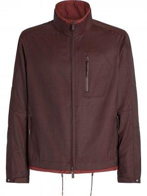 Куртка на молнии с контрастной отделкой Ermenegildo Zegna. Цвет: красный