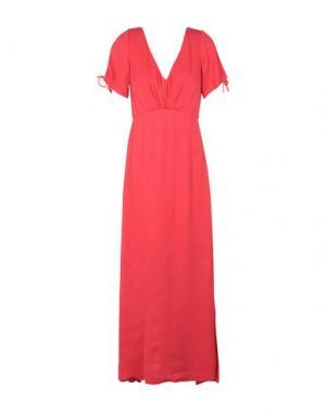Длинное платье MINIMUM. Цвет: красный