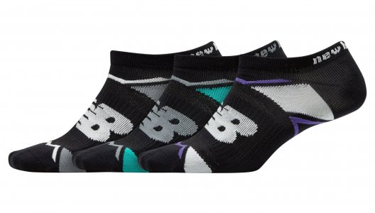Носки ELITE SPORT NO SHOW SOCK 3 PAIR New Balance. Цвет: черный