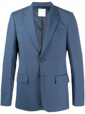 Однобортный пиджак узкого кроя Sandro Paris. Цвет: синий