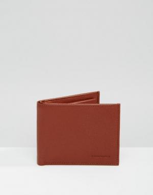 Коричневый кожаный бумажник Fuze Royal RepubliQ. Цвет: рыжий