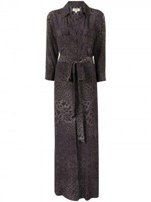 LAgence длинное платье-рубашка Cameron L'Agence. Цвет: черный