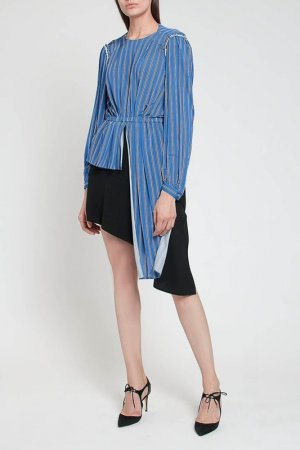 Блузка Balenciaga. Цвет: синий/белый