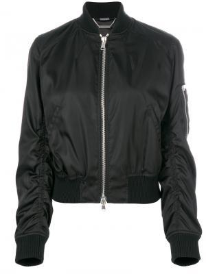 Куртка-бомбер с оборками Alexander McQueen. Цвет: чёрный