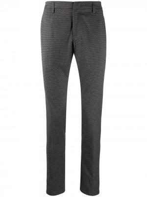 Строгие брюки в ломаную клетку Dondup. Цвет: серый