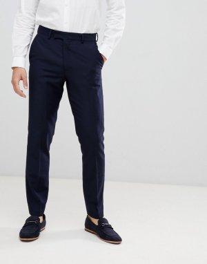 Узкие брюки под смокинг French Connection. Цвет: темно-синий
