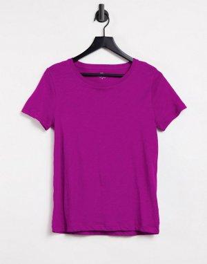 Фиолетовая винтажная футболка из хлопка с круглым вырезом J. Crew-Фиолетовый цвет J Crew