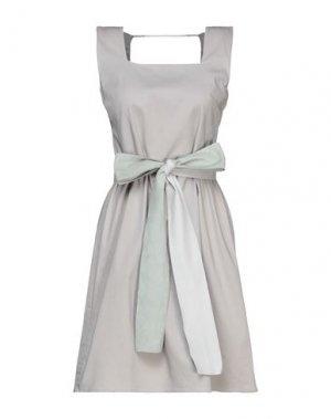 Короткое платье HOTEL PARTICULIER. Цвет: светло-серый