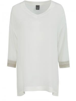 Трикотажный пуловер Lorena Antoniazzi. Цвет: белый