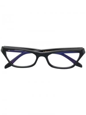 Очки в оправе кошачий глаз Cutler & Gross. Цвет: черный