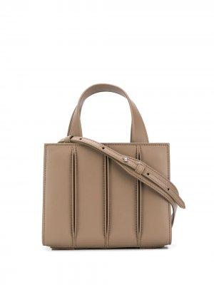 Маленькая сумка-тоут Whitney Max Mara. Цвет: нейтральные цвета