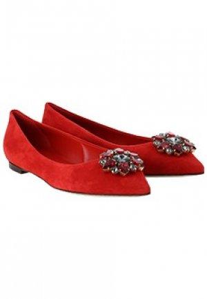 Туфли DOLCE&GABBANA. Цвет: красный