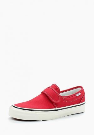 Слипоны Vans SLIP-ON 47. Цвет: красный