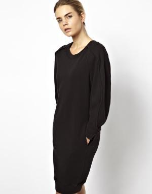 Платье-свитшот Chalayan Grey Line. Цвет: черный