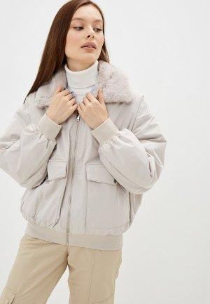 Куртка утепленная Ostin O'stin LJ6Z4A. Цвет: бежевый