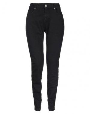 Джинсовые брюки SANDRO FERRONE. Цвет: черный
