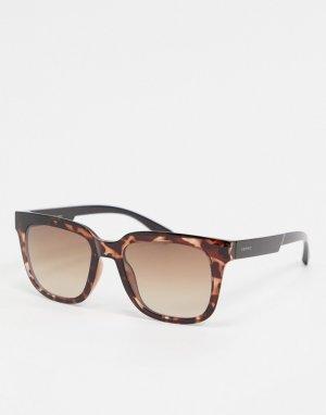 Солнцезащитные очки в квадратной черепаховой оправе -Коричневый Esprit