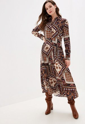 Платье b.young. Цвет: коричневый