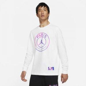 Мужская футболка с длинным рукавом Paris Saint-Germain - Белый Nike