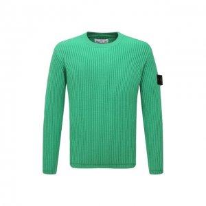 Шерстяной свитер Stone Island. Цвет: зелёный