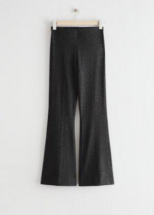 Расклешенные брюки с блестками &Other Stories. Цвет: черный