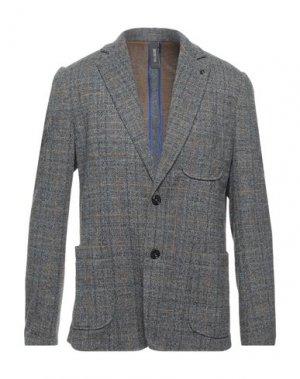 Пиджак DISTRETTO 12. Цвет: свинцово-серый