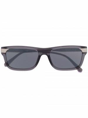 Солнцезащитные очки в квадратной оправе Calvin Klein Jeans. Цвет: серый