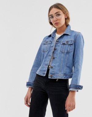 Джинсовая куртка Lee Rider Jeans. Цвет: синий