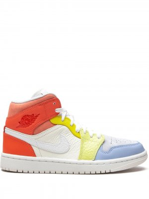 Кроссовки Air 1 Mid Jordan. Цвет: белый