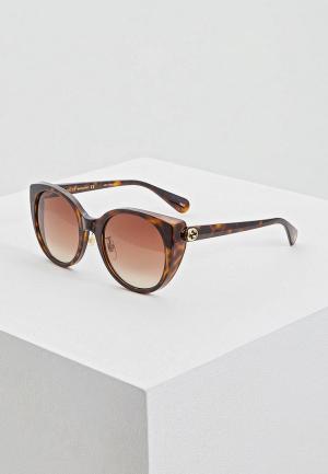 Очки солнцезащитные Gucci GG0369S002. Цвет: коричневый