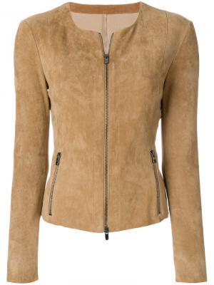 Куртка на молнии Drome. Цвет: бежевый