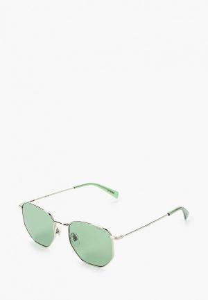 Очки солнцезащитные Levis® Levi's® LV 1004/S KTU. Цвет: серебряный