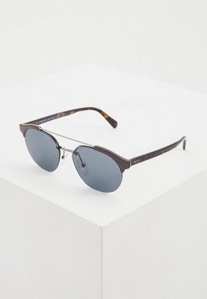 Очки солнцезащитные Prada PR 51VS 4162K1. Цвет: коричневый