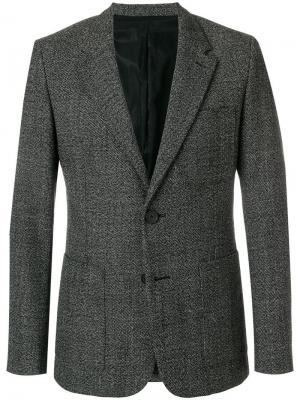 Пиджак на две пуговицы AMI Paris. Цвет: черный