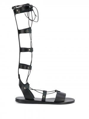 Высокие сандалии bes Ancient Greek Sandals. Цвет: черный