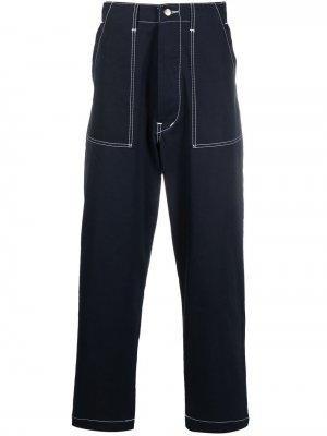 Укороченные брюки чинос с завышенной талией Société Anonyme. Цвет: синий